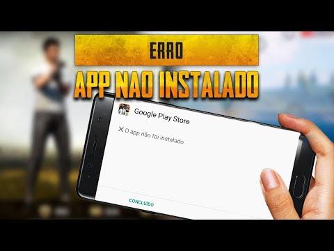 """Resolvendo erro PUBG mobile """" APP NAO INSTALADO """" (Android )"""