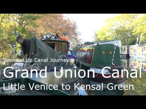 Speeded Up Canal Journeys - Grand Union Canal - Little Venice to Kensal Green