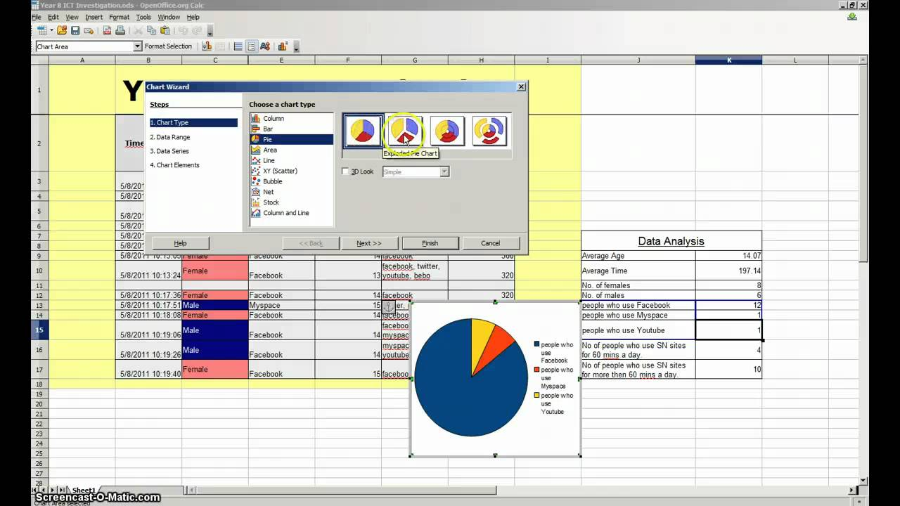 Creating a graph chart in openoffice calc youtube creating a graph chart in openoffice calc ccuart Gallery