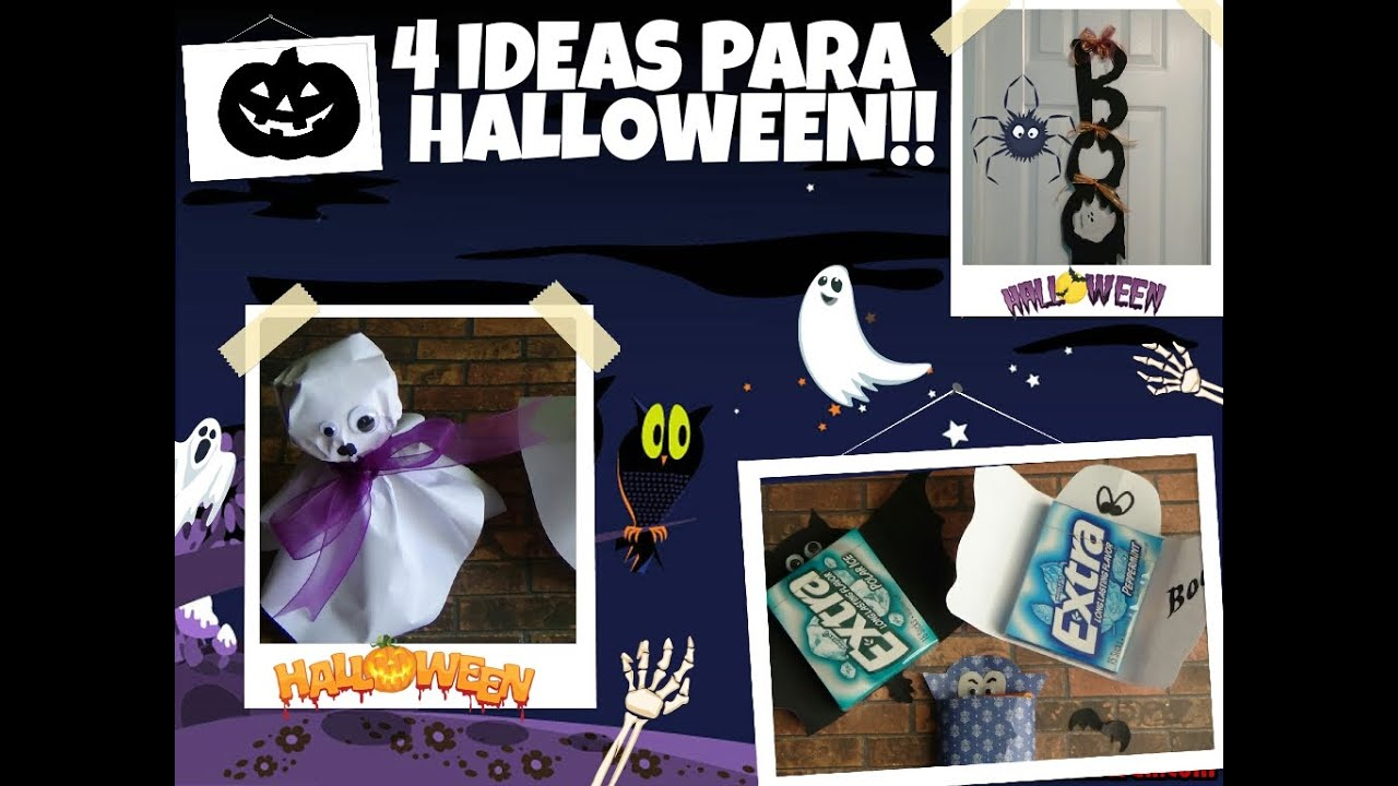 Diy ideas para halloween decora tu cuarto y regal youtube for Decoraciones para tu casa