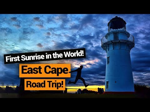 East Cape Road Trip feat. the East Cape Lighthouse Sunrise – New Zealand's Biggest Gap Year
