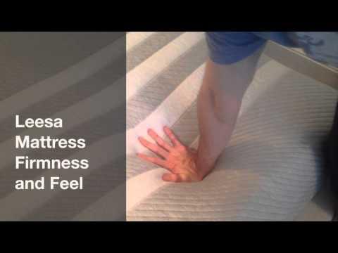 Leesa Mattress Firmness and Feel