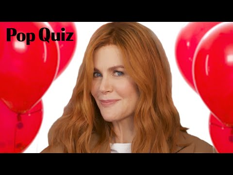 Nicole Kidman Plays a Game of Pop Quiz  Marie Claire