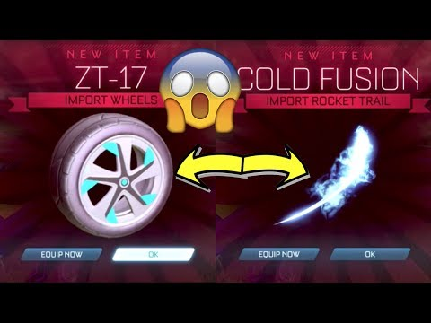 *SECRET CODES* NEW RARE ITEMS IN ROCKET LEAGUE!! | COLD FUSION BOOST & ZT-17 WHEELS!!
