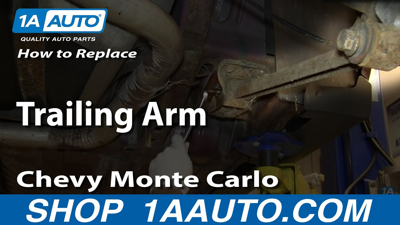 how to install replace rear lower trailing control arm 1995 07 chevy monte carlo youtube [ 1280 x 720 Pixel ]