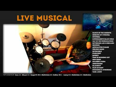 Muse Haarp Live Drum Cover - Live 24h