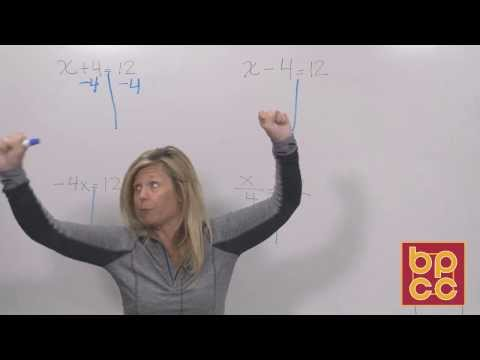 Math 102 Module 1.1 - Solving Linear Equations