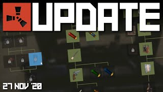 Tech trees, November Bąlance | Rust Update 27th November 2020