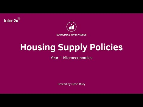 Housing Supply Policies