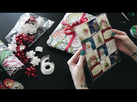 #31 Wrapping Gifts, Paper, Plastic, Box tapping sounds, Whispering, ASMR