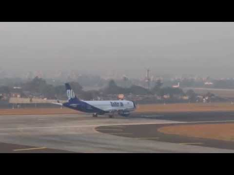 Go Air taking off from Bombay airport