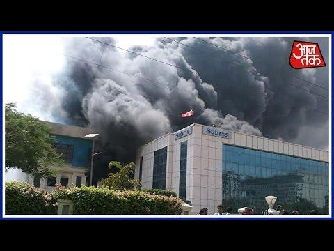 Massive Fire Engulfs AC Company In Manesar, Haryana