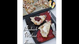 Rhubarb & Walnut Scones