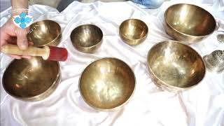 Поющие чаши набор 6. Поющие чаши для массажа и звукотерапии.