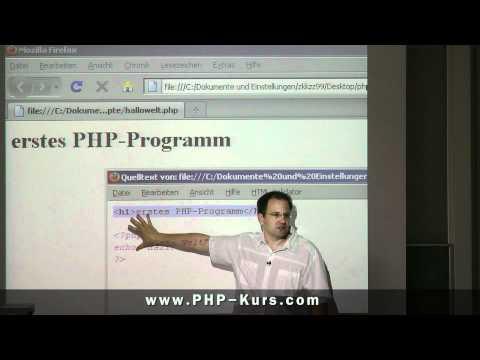 erstes PHP Script erstellen und ausführen - http://www.PHP-Kurs.com