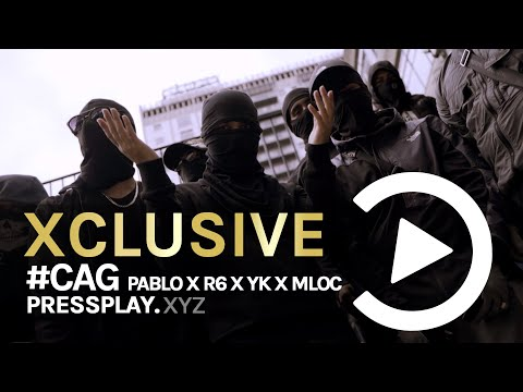 #CAG Pablo x R6 x Yk x Mloc - Target 🇮🇹 (Music Video) #ItalianDrill   Pressplay