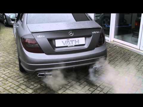 VÄTH ::: Mercedes C63 AMG als V63RS Umbau mit Klappenendschalldämpfer made by VÄTH