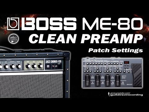 BOSS ME-80 CLEAN SOUND For Direct PA Use Or Direct Recording [Som Limpo Em Linha].