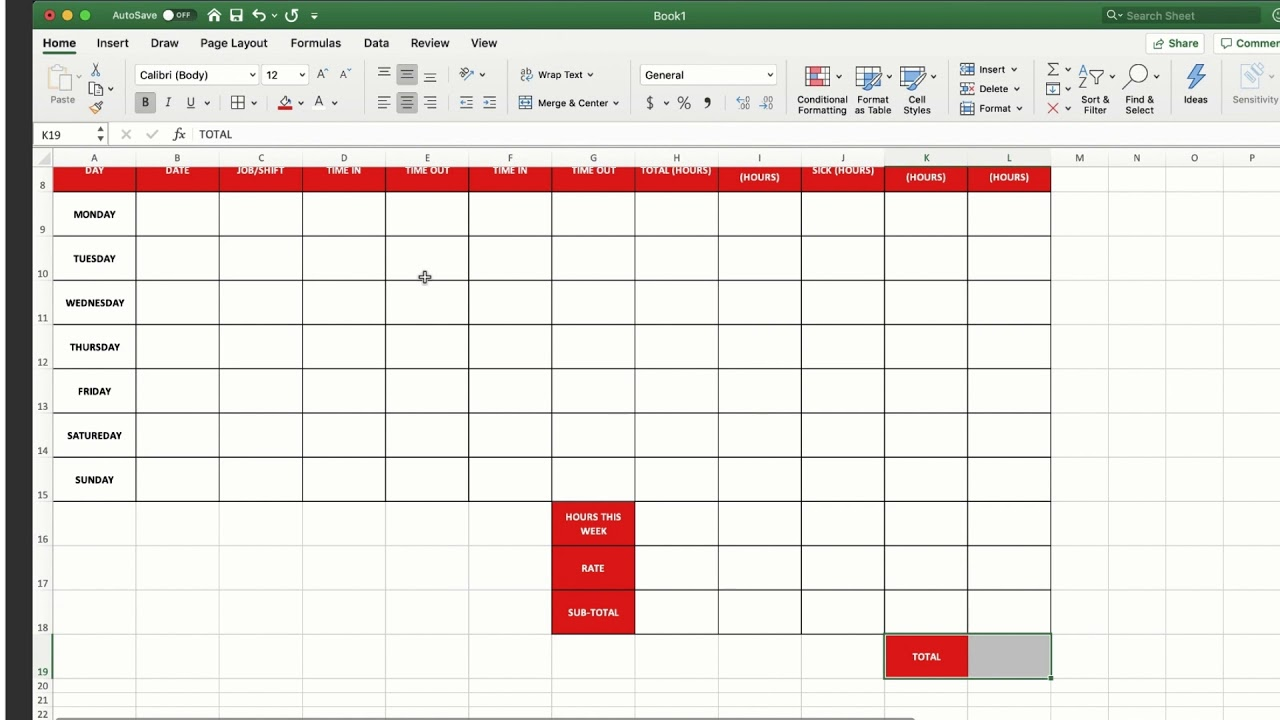 How To Make A Timesheet In Excel Tsheets