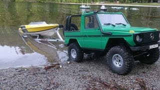 RC Mercedes 300 G boat launch!
