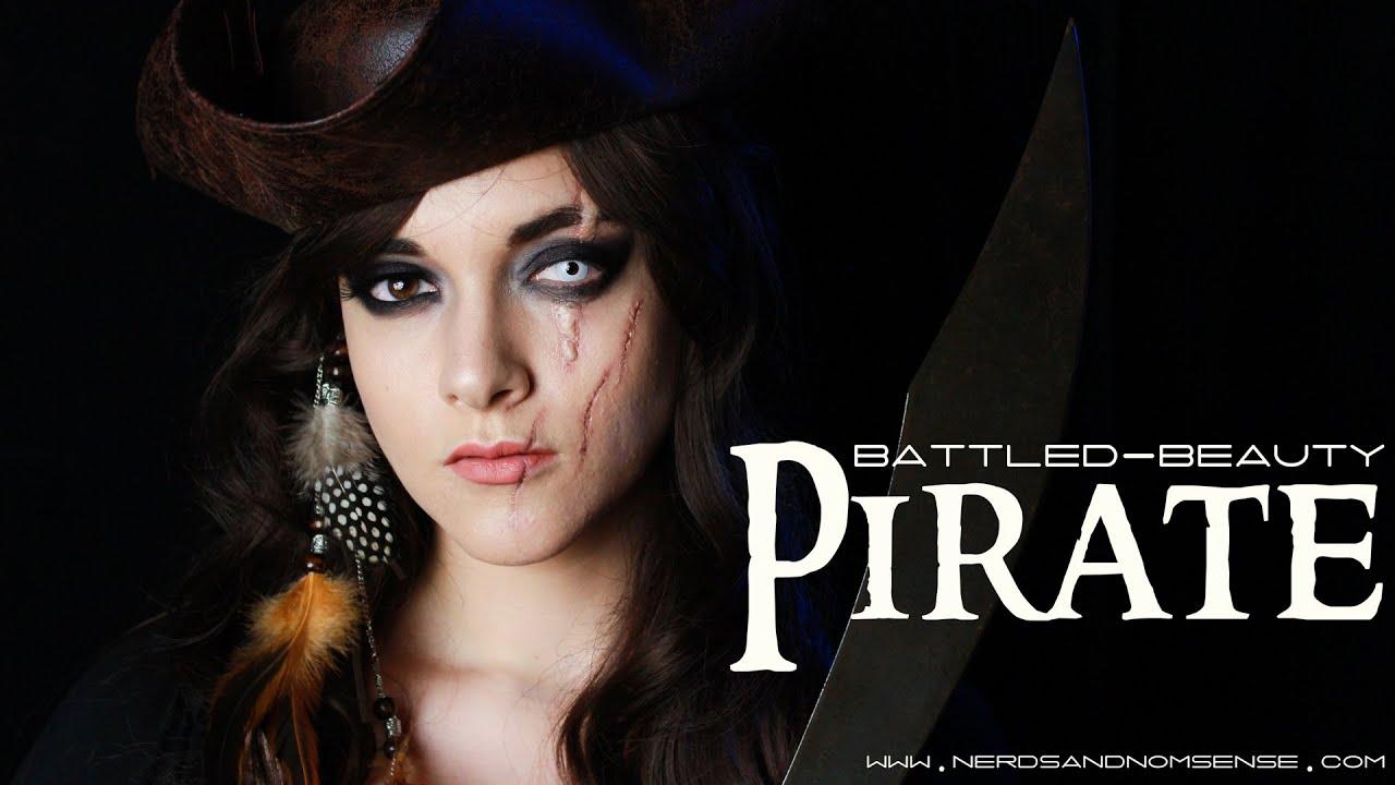 Battled-Beauty Pirate | Halloween Makeup Tutorial | Nerds ...