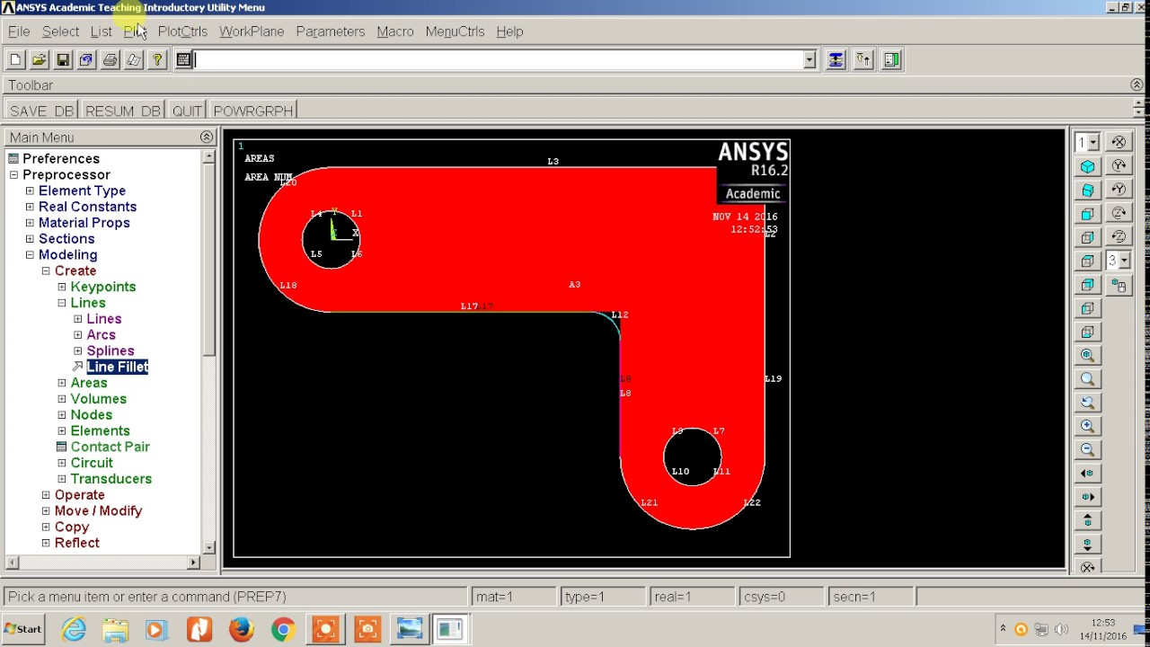 Structural Static Analysis of Corner Bracket #Ansys APDL