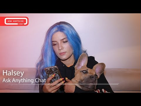 Halsey's Dog Jagger Acts Cute While She Talks About