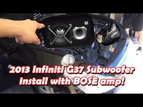 2013 Infiniti G37 Subwoofer install with Bose System