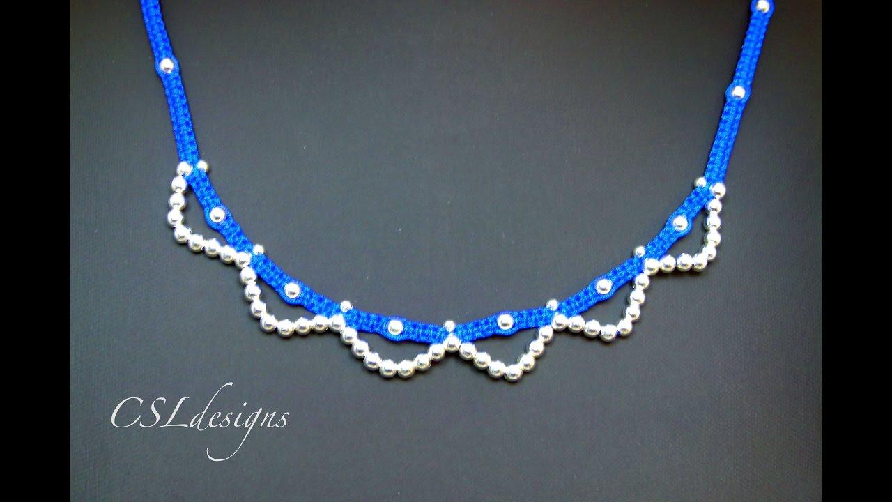 fe866cd90122 Easy macrame necklace