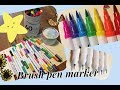 Review #60 Colors Dual Tip Brush Pens Art Markers by Tanmit