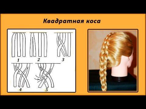 коса схема плетения фото