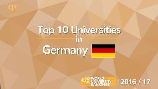 Top 10 Universities in Germany 2016/17 thumbnail