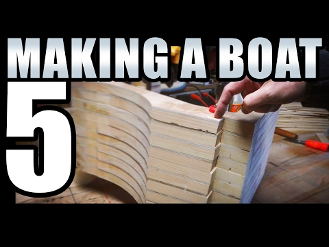 How to Build a Small Wooden Boat #5 Not Using Marine Plywood - Electric Powered - Fairing the Frames
