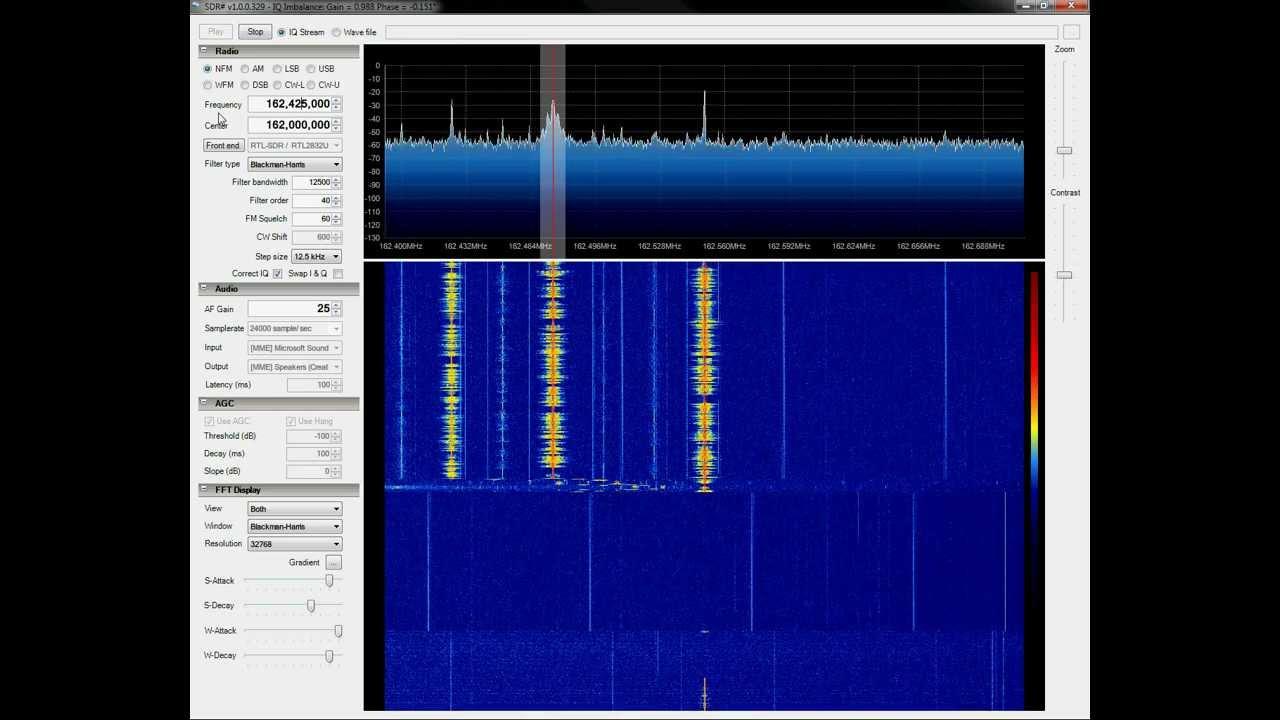 Testing RTL-SDR Dongle with SDR# (SDRSharp)