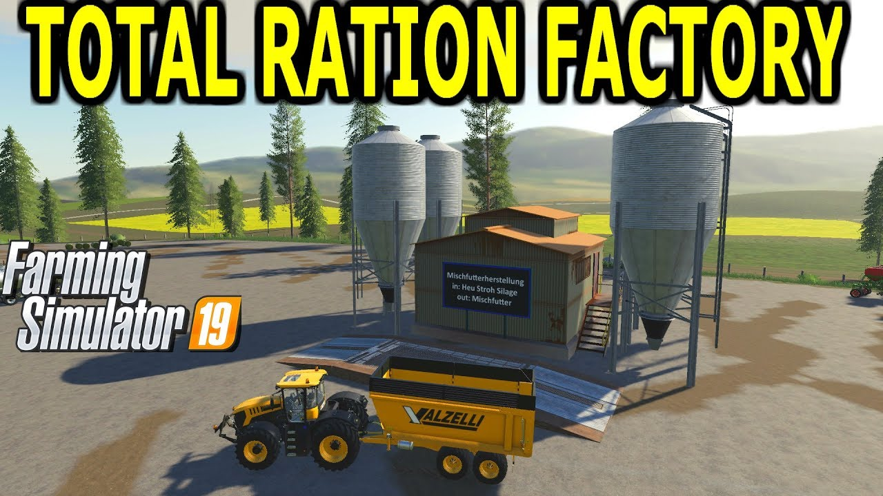 Farming Simulator 19 Mod Video Review Make Cows Total Ration