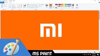 How to Draw Mi/Xiaomi logo in MS Paint from Scratch!
