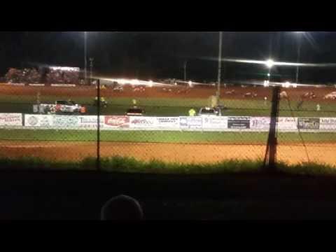 Josh Burton Memorial Sprint Car Feature Part 2/2  Bloomington Speedway