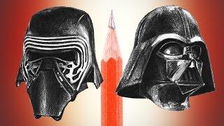 Star Wars: Kylo Ren VS Darth Vader - pencil drawing comparison