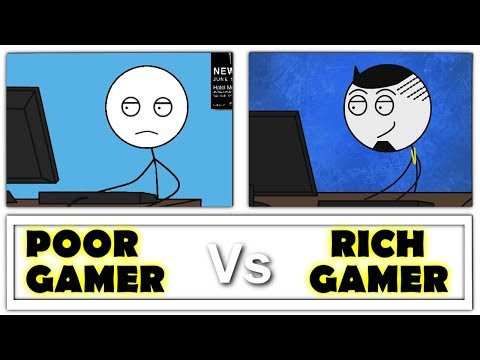 Poor Gamer Vs Rich Gamer thumbnail