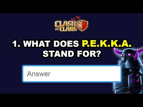 Taking A Clash of Clans Quiz (Shocking Results!)
