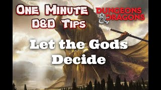 DnD Character Concept: Let the Gods Decide | Dungeons and Dragons