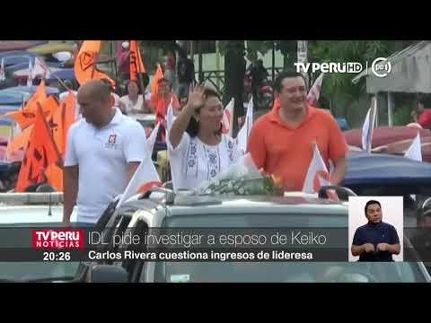 IDL pide investigar a esposo de Keiko Fujimori