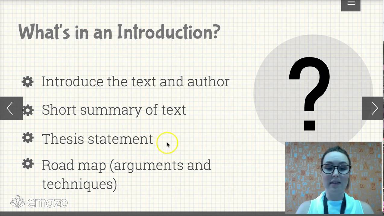 component of the introduction to an analytical essay The steps involved in an introductory paragraph for an analytical essay on a novel.