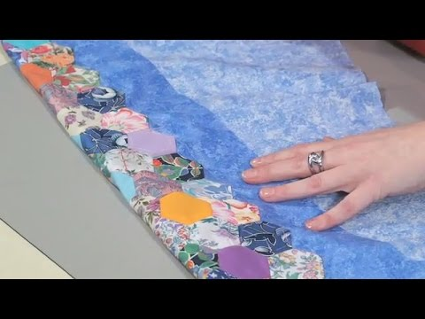 How to finish a Hexagon Quilt by Nancy Adamek (taster video) - YouTube : finishing a hexagon quilt - Adamdwight.com