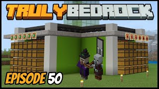 Raid Farm Iron And Auto Storage System! - Truly Bedrock (Minecraft Survival Let's Play) Episode 50