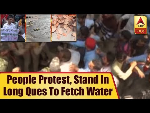 Shimla:People Protest, Stand In Long Ques To Fetch Water From Tanks As City Becomes Parch ABP