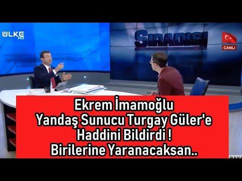 Ekrem İmamoğlu Ülke tv spikeri Turgay Güler'i fena sinirlendirdi