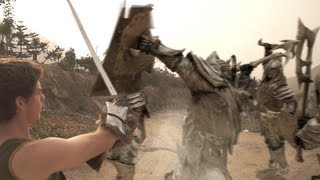 Skyrim in REAL LIFE: Fighting Giants, Skeletons and Orcs