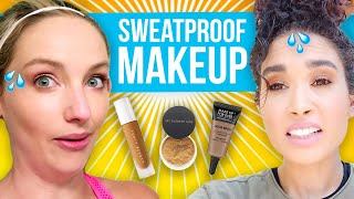Women Try SWEAT-PROOF Makeup! Does It Really Work?!