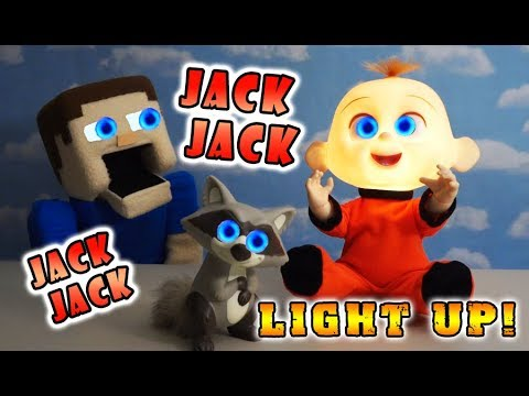 Incredibles 2 JACK JACK Light and Sounds BURPING FARTING BABY! Movie Toys Unboxing Full Trailer